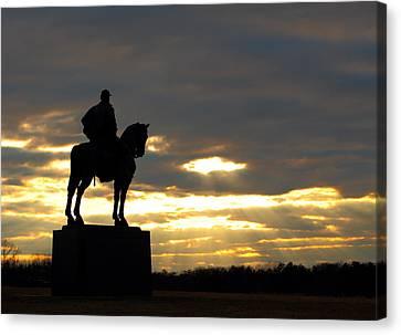 Sunset On The Battlefield Canvas Print