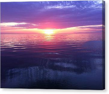 Canvas Print featuring the photograph Sunset On The Bay by Tiffany Erdman
