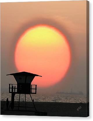 Sunset On The Beach Canvas Print by Ben and Raisa Gertsberg