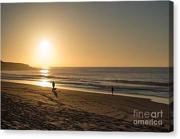Sunset On The Beach Photo Scene Canvas Print