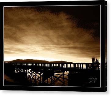 Sunset On The Boardwalk Canvas Print