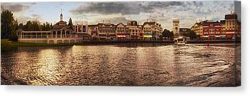 Sunset On The Boardwalk Walt Disney World Canvas Print