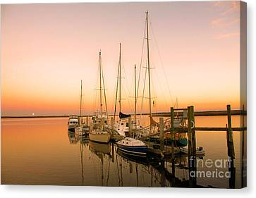 Sunset On The Dock Canvas Print by Southern Photo