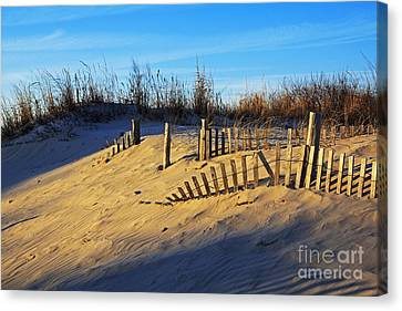 Sunset On The Dunes Canvas Print