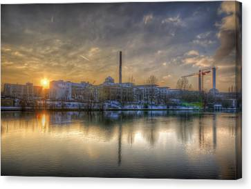 Sunset On The Esifabrik Canvas Print by Nathan Wright