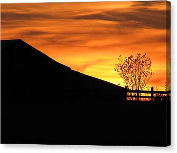 Canvas Print featuring the photograph Sunset On The Farm by Greg Simmons