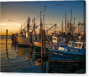 Sunset On The Fleet Canvas Print