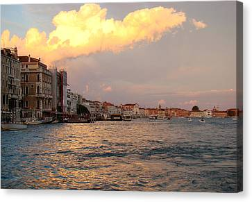 Sunset On The Grand Canal Canvas Print
