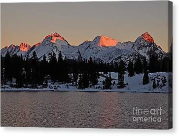 Sunset On The Grenadiers Canvas Print