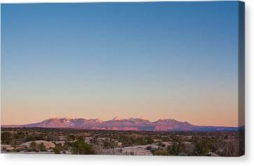 Sunset On The La Sal Mountains Canvas Print