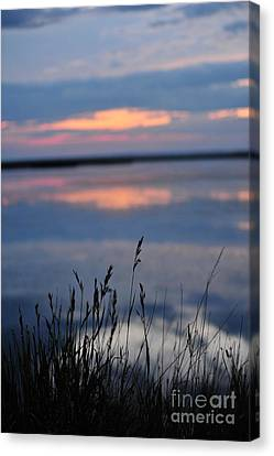 Sunset On The Lake Canvas Print by Birches Photography