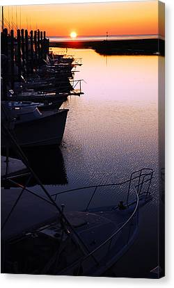 Sunset On The Marina Canvas Print by James Kirkikis
