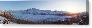 Matanuska Canvas Print - Sunset On The Matanuska Glacier by Tim Grams