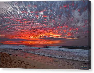 Canvas Print featuring the photograph Sunset On The North Shore by Aloha Art