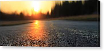 Sunset On The Road Canvas Print by Dan Sproul