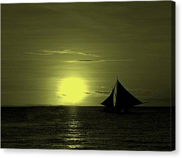 Sunset On The Sea Canvas Print by Movie Poster Prints