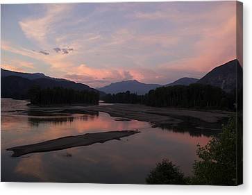 Sunset On The Skeena Canvas Print