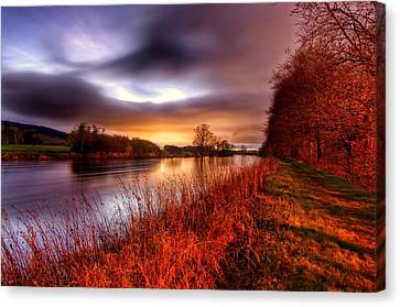 Sunset On The Suir Canvas Print