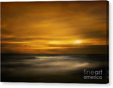 Sunset On The Surf Canvas Print by Tom York Images
