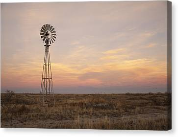 Sunset On The Texas Plains Canvas Print by Melany Sarafis