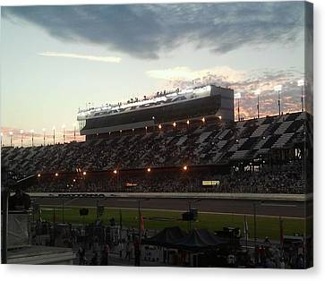Sunset On Top Of Daytona Canvas Print by Julie Wilcox