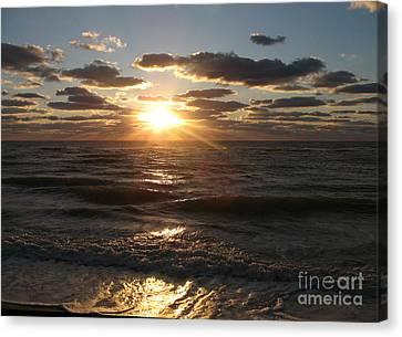 Sunset On Venice Beach  Canvas Print by Christiane Schulze Art And Photography