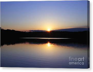 Walden Pond Canvas Print - Sunset On Walden Pond by John Greim