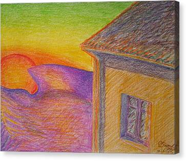 Sunset On Wavy Mountains Canvas Print