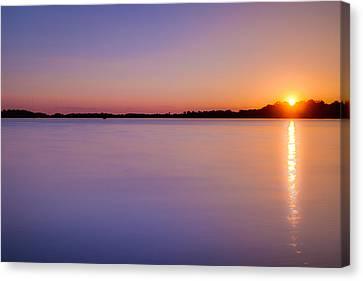 Sunset On White Bear Lake Canvas Print