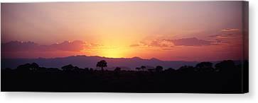 Sunset Over A Landscape, Tarangire Canvas Print