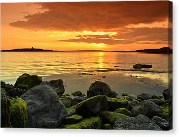 Sunset Over Aran Canvas Print