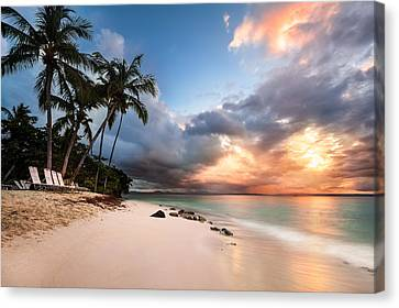 Sunset Over Bacardi Island Canvas Print by Mihai Andritoiu