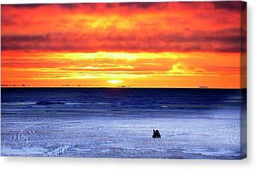 Sunset Over Beaufort Sea Alaska Canvas Print