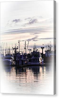 Sunset Over Bellingham Bay Canvas Print