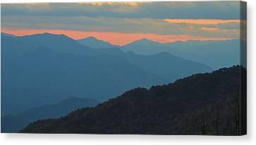 Gatlinburg Tennessee Canvas Print - Sunset Over Blue Ridge Asheville North Carolina by Dan Sproul
