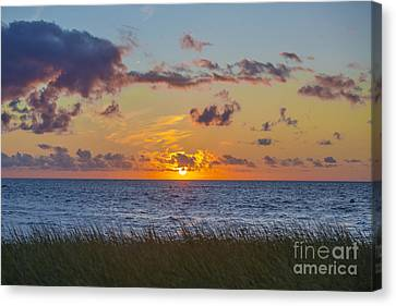 Cape Cod Bay Canvas Print - Sunset Over Cape Cod Bay by Diane Diederich