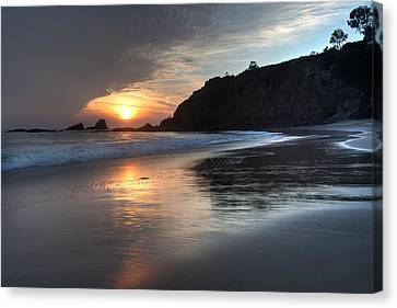 Sunset Over Crescent Bay Canvas Print by Cliff Wassmann