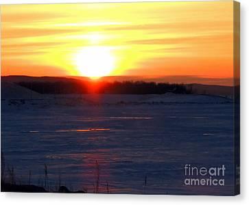 Sunset Over Devils Lake Canvas Print