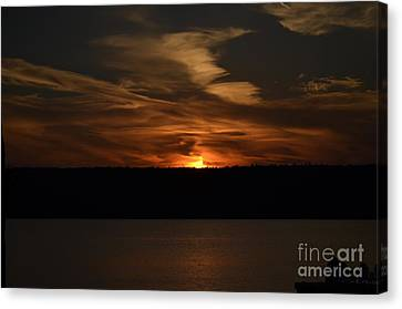 Sunset Over Door County  Canvas Print