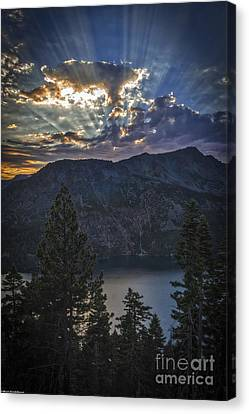 Sunset Over Fallen Leaf Lake Canvas Print by Mitch Shindelbower