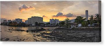 Sunset Over Georgetown Penang Malaysia Canvas Print by Jit Lim