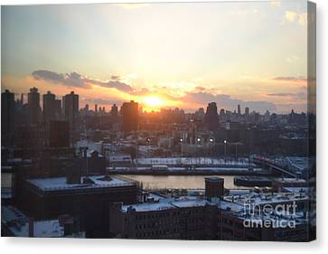 Sunset Over Harlem Canvas Print by Robert Daniels