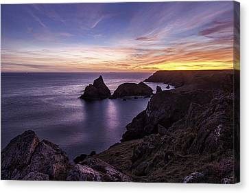 Sunset Over Kynance Cove Canvas Print