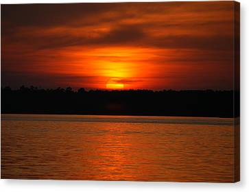 Sunset Over Lake Martin Canvas Print by Donald Williams