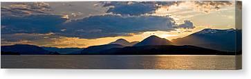 Sunset Over Lake Pend Oreille Canvas Print by Marie-Dominique Verdier