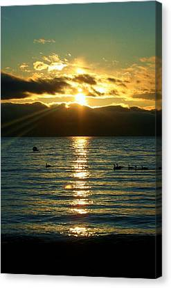Sunset Over Lake Tahoe Canvas Print