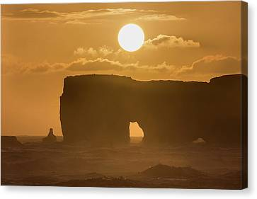 Sunset Over Lava Arch Canvas Print by Dr Juerg Alean