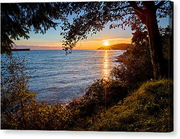 Sunset Over Lighthouse Park Canvas Print by Alexis Birkill