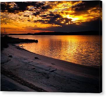 Sunset Over Little Assawoman Bay Canvas Print