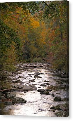 Gatlinburg Tennessee Canvas Print - Sunset Over Little River by Dan Sproul